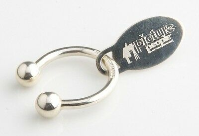 "Tiffany & Co. Sterling Silver Key Ring with ""Picture People"" Tag Great Piece!"