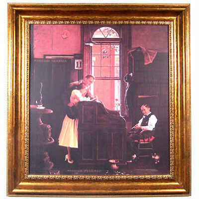 """Marriage License"" by Norman Rockwell Framed Print 27 3/8""x25 1/2"""