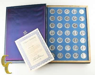 Franklin Mint Sterling Silver Commemorative President Medal Set 1968 w/ CoA