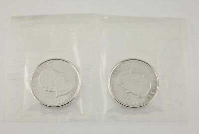 2008 Canada Silver Vancouver Olympics Silver Coin Unc., Set of 2 Coins