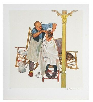 """Summer's Start"" by Norman Rockwell Lithograph on Paper Artist's Proof"