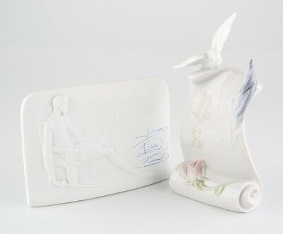 Lladro Collector's Society Scroll w/ Dove and Quixote Plaque Great Condition!