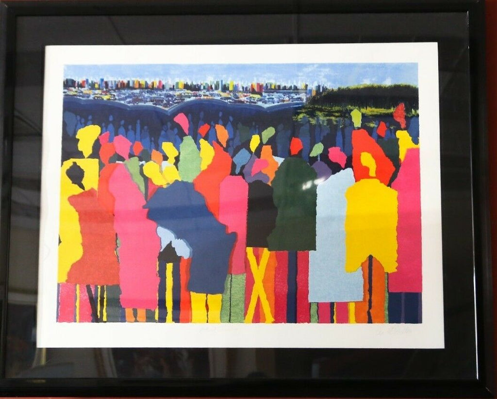 """Artist Crossing"" by Leo Posillico Serigraph on Paper Hors d'Commerce 36/50"
