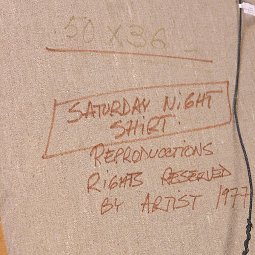 """Saturday Night Shirt"" by Aldo Luongo Original Acrylic Painting on Canvas w/ CoA"