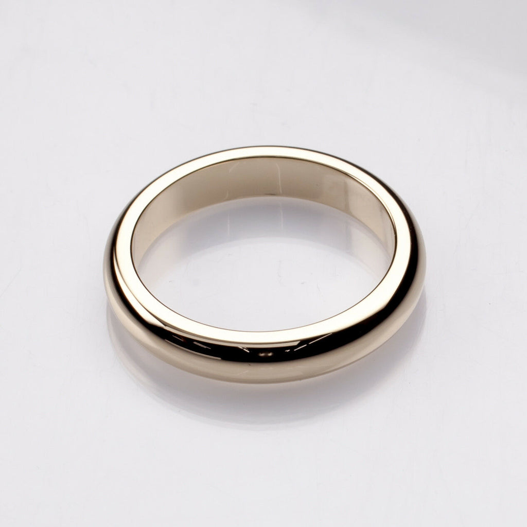 Tiffany & Co. 14k Yellow Gold Vintage Wedding Band Size 7.25 4 mm