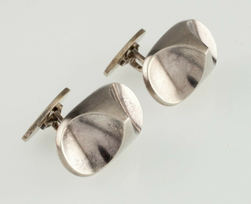 Georg Jensen Sterling Silver Cufflinks #112 Nice Condition!