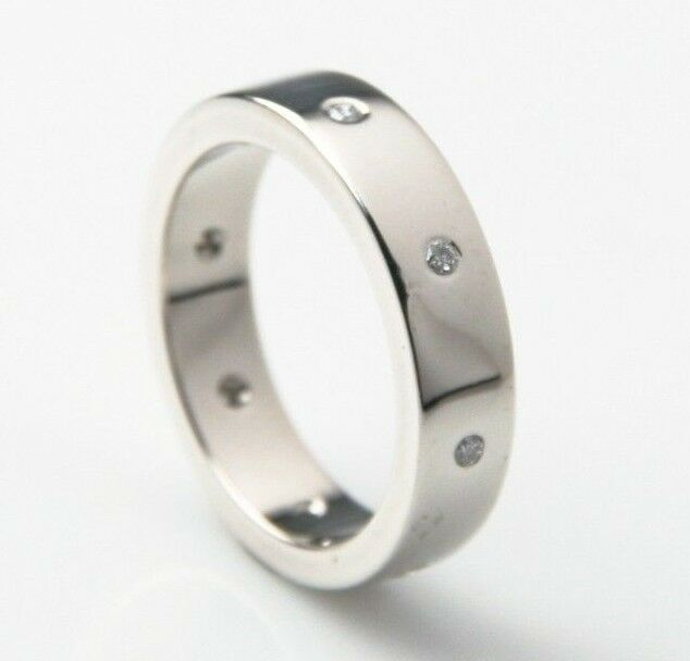 Stunning Platinum & Diamonds Wedding Band (Size 8) 0.15ct TDW Unisex 5mm