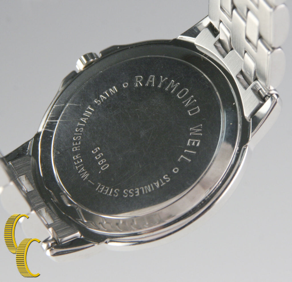 Raymond Weil Stainless Steel Geneve Tango Quartz Watch w/ Date Feature 5560
