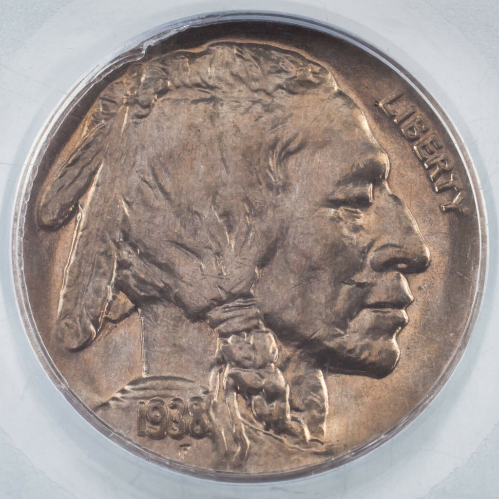 1938-D 5C Buffalo Nickel Graded by PCGS as MS-66! Rosy Toning!