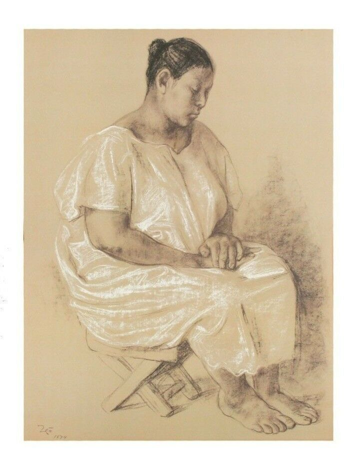 """Martha"" by Francisco Zuniga Lithograph on Paper LE of 2000 1974 Portfolio"