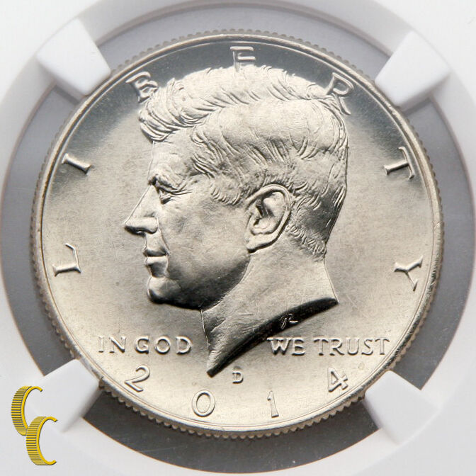 2014-D 50¢ Kennedy Clad High Relief Graded by NGC as SP-67 Early Releases