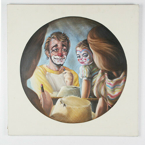 "Untitled (Father & Daughter w/ Makeup) By Anthony Sidoni Oil on Canvas 24""x24"""