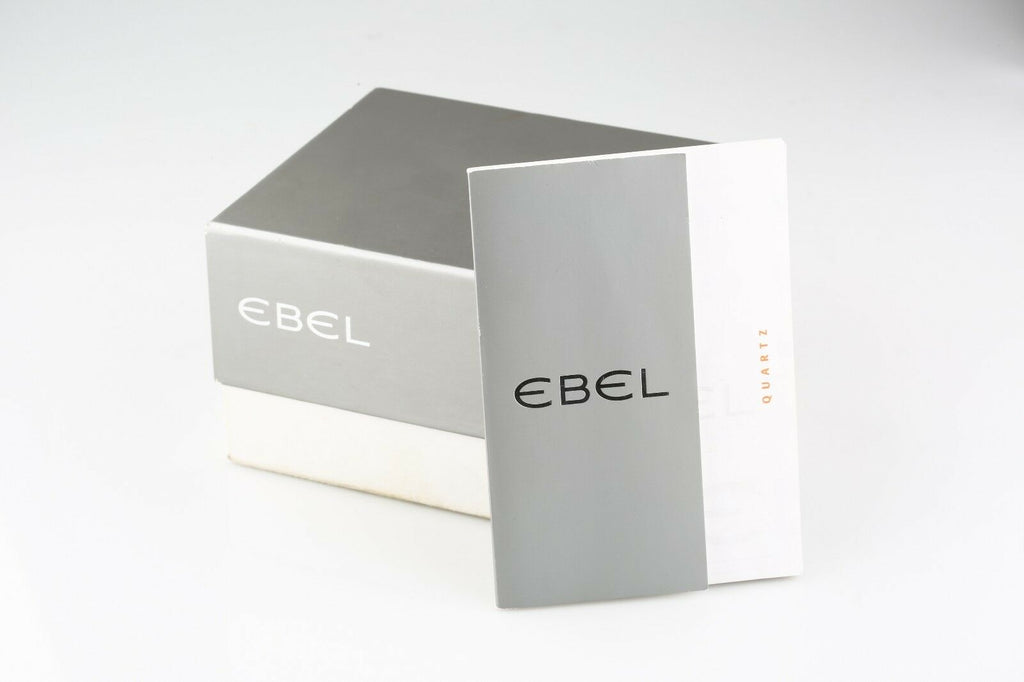Ebel Men's LD Sport Wave Watch Black Dial Date E9187632 w/ Original Box & Papers