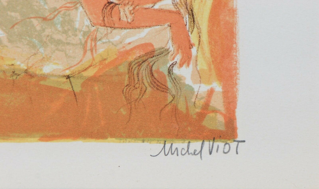 """Nude #1"" By Michel Viot Lithograph On Paper Limited Ed. of 50 13"" x 9.5''"