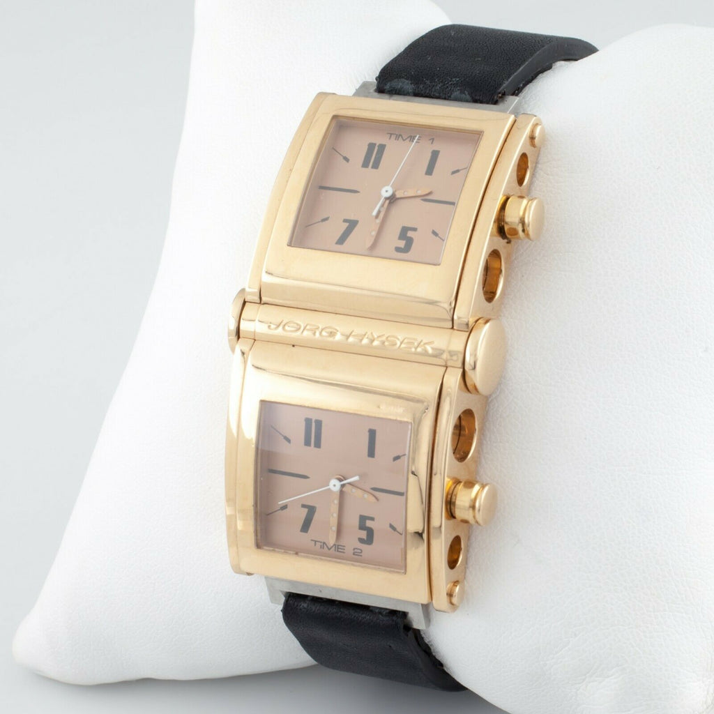 Jorg Hysek 18k Yellow Gold Limited Edition of 200 Dual Time Quartz Watch