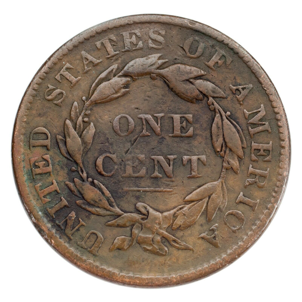 1836 Large Cent 1C Very Good Condition Brown Color, Full Bold Liberty