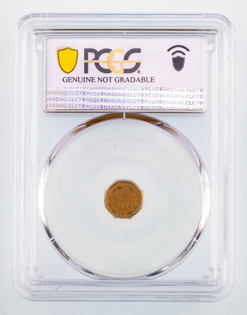 1870 California Gold 50C Piece BG-921 Graded by PCGS as UNC Details