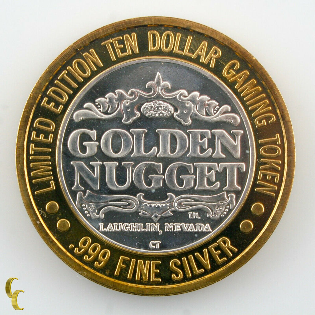 Jane's Grill $10 Golden Nugget Casino Gaming Token .999 Silver Ltd Edition