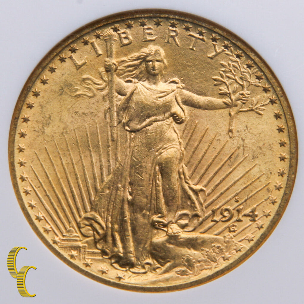 1914-S $20 Gold St. Gaudens Double Eagle Graded by NGC MS-64