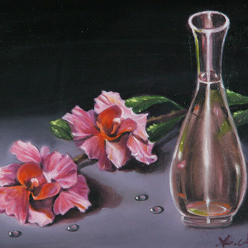 """Vase Awaiting"" By Anthony Sidoni 2002 Signed Oil Painting 12 1/4""x11 1/4"""