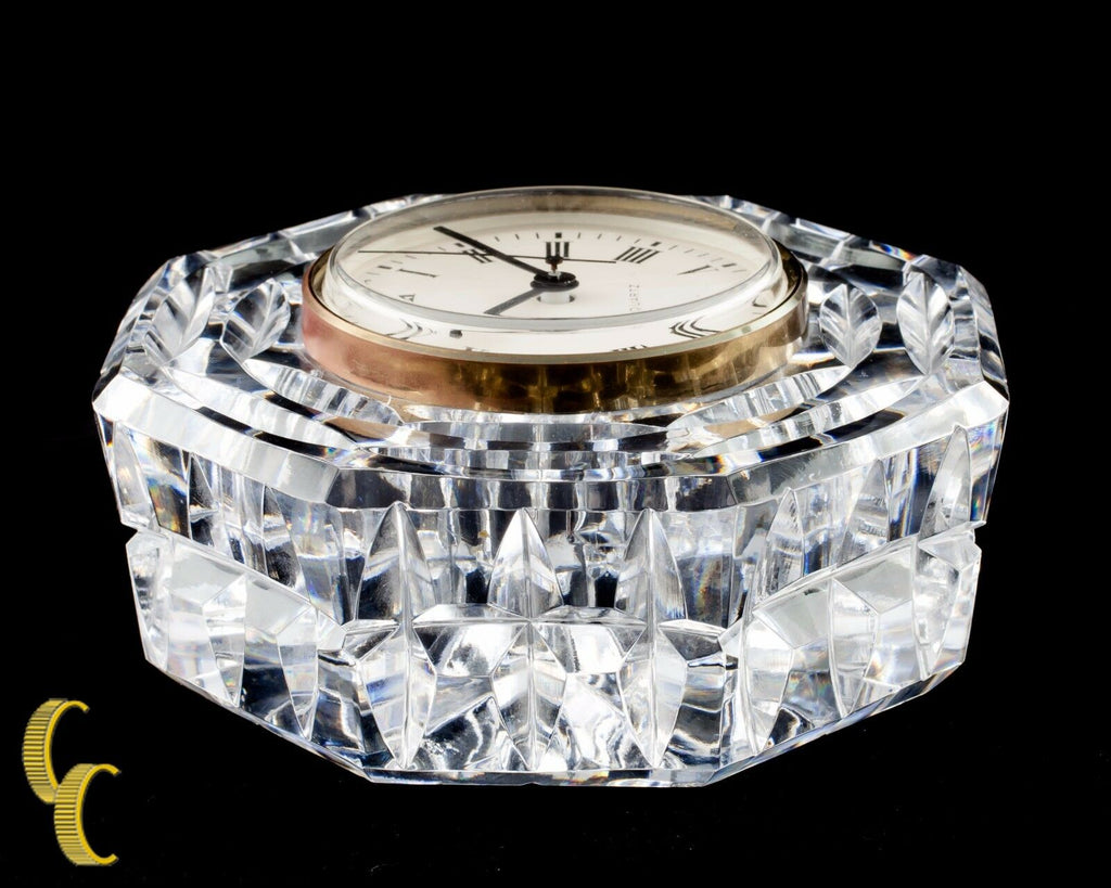 Waterford Crystal Octogon Quartz Mantle Clock Nice!