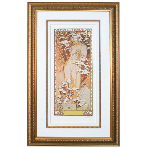 """WINTER"" by ALPHONSE MUCHA, Print Signed and Numbered"