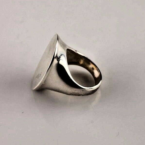 FLAT FRONT .925 STERLING SILVER STATMENT RING