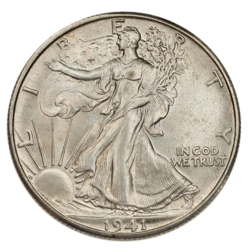 1941-D Silver Walking Liberty Half Dollar 50C (Choice BU Condition)