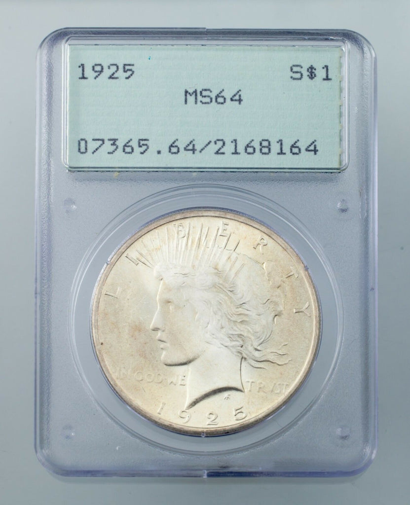 Lot of 3 PCGS Peace Dollars 1923-1925 OGH MS64 Great Lot!