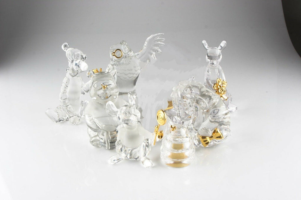 Lot of 8 Retired Disney Lenox Winnie the Pooh Crystal Figurines, Retired, Great!