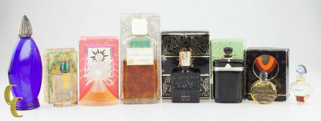 Lot of 8 Vintage Designer Perfumes and Empty Bottles, Great Collection!