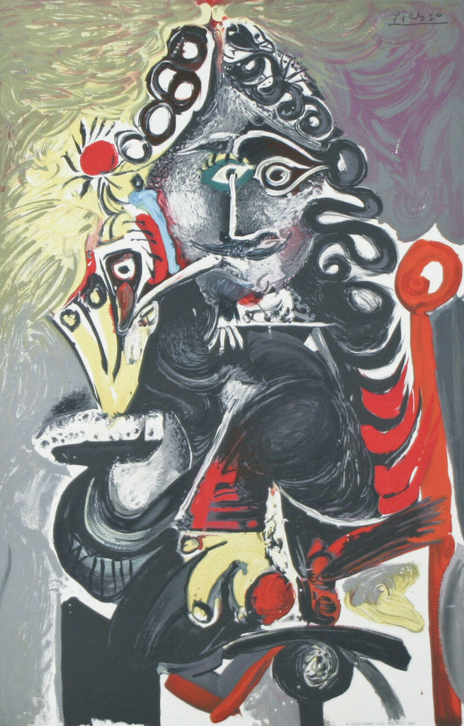 """Smoker"" By Pablo Picasso Plate Signed Lithograph on Paper 25 1/2""x20"""