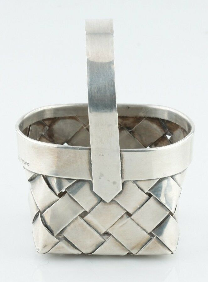 Authentic Cartier Handmade Sterling Mini Basket (47.6g) .925 Silver Retired