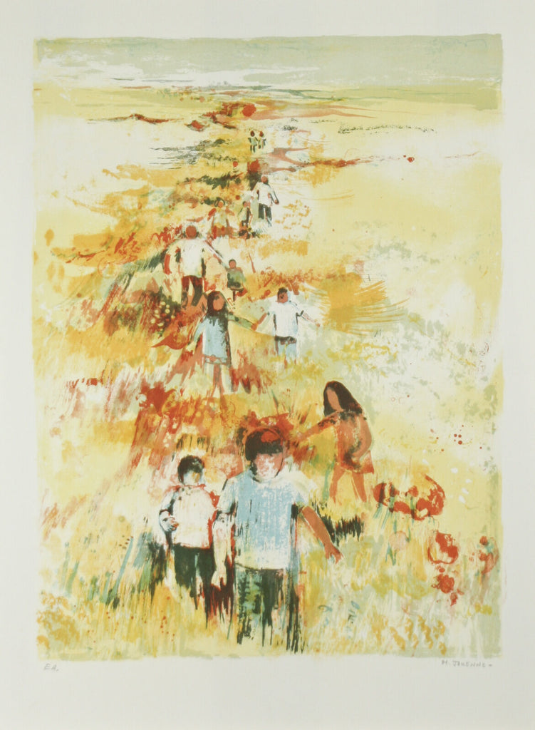 """In the Field"" by Michel Jouenne Signed Ltd Edition Artist's Proof EA Lithograph"