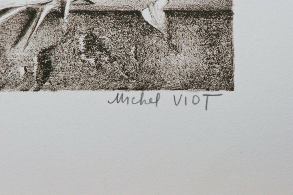 """Couple With Shell"" By Michel Viot Lithograph On Paper Limited Ed. Of 50"