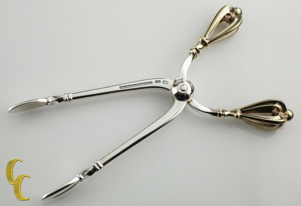 Golden Crown Danish 925 Silver Coffee Set Sugar Tongs Cocktail Forks Demitasse