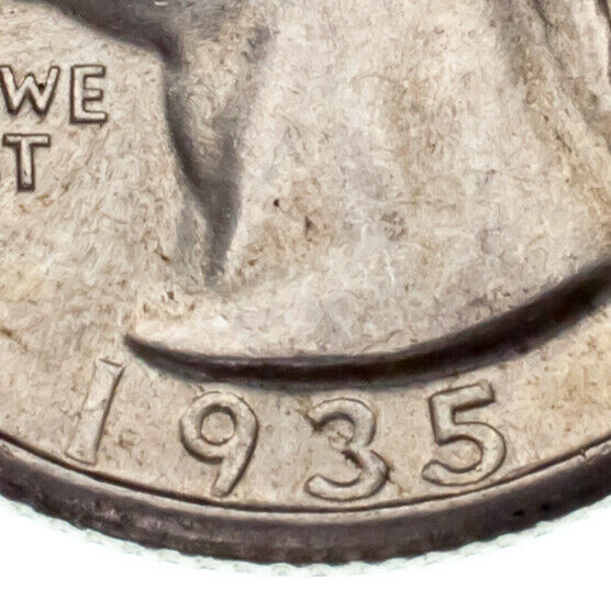 1935-S 25C Washington Quarter AU Condition, Excellent Eye Appeal & Luster
