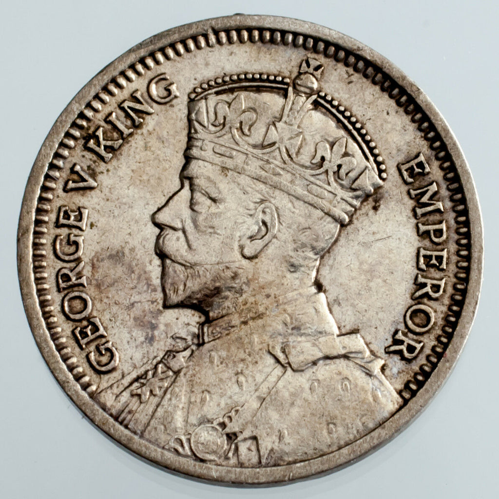 1935 New Zealand 3 Pence Silver Coin KM #1 VF Condition