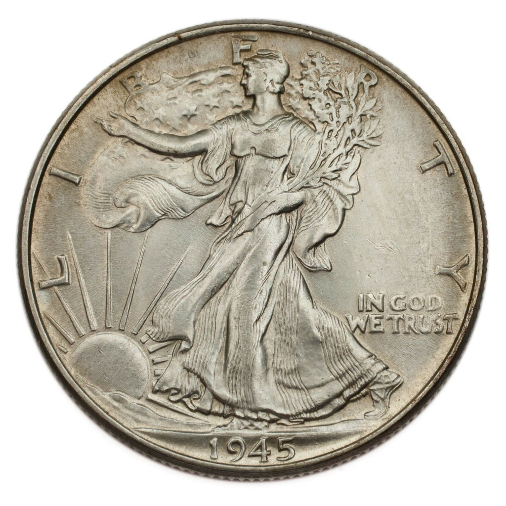 1945 Silver Walking Liberty Half Dollar 50C (Choice BU Condition)