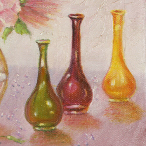 """Flowers, Vases & Figurines"" By Anthony Sidoni 2000 Signed Oil on Canvas 11""x14"""