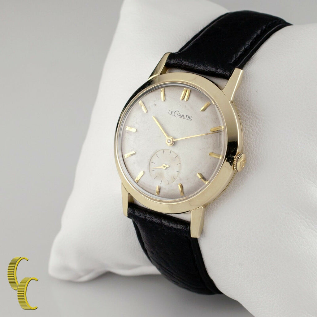 Le Coultre 14k Yellow Gold Men's Round Mechanical Hand-Winding Watch