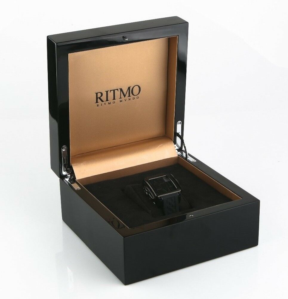 Ritmo Mundo Puzzle Automatic 25 Jewel Limited Black Women's Watch 511 w/ Box