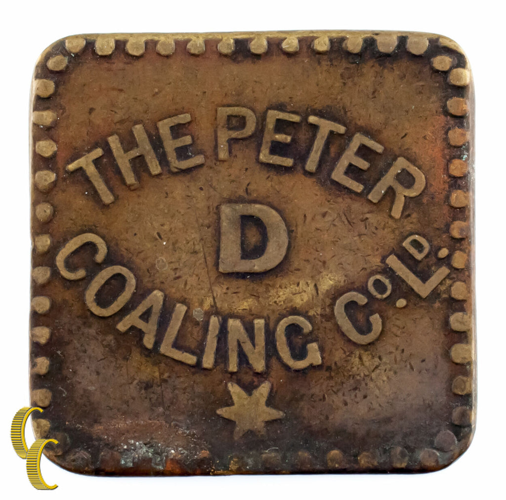 West Indies St. Lucia The Peter Coaling Co. Ltd. Day Rate Token 1901-1944