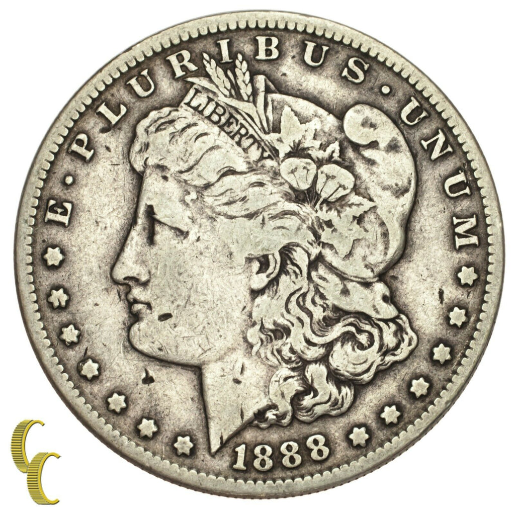 1888-S Silver Morgan Dollar $1 (Very Fine, VF Condition)