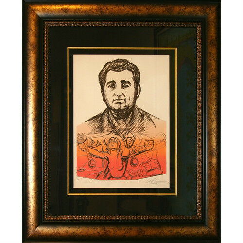 """Ruben Salazar, Heroic Voice"" By David A. Siqueiros Signed Ltd Ed #92/125 Litho"