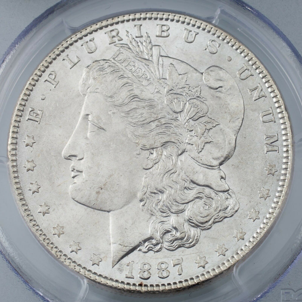 1887 $1 Silver Morgan Dollar Graded by PCGS as MS-64! Gorgeous Morgan!