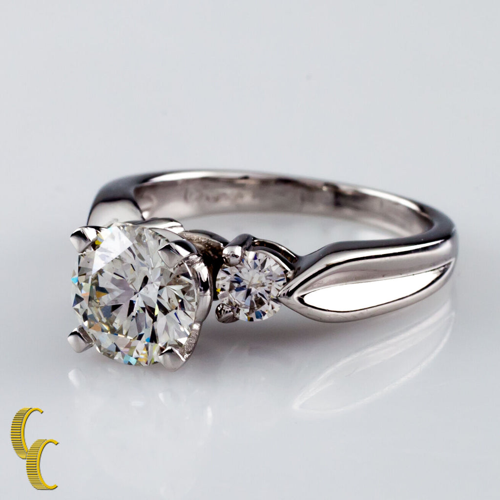 1.30 carat Round Brilliant Diamond Platinum Engagement Ring Size 5.75