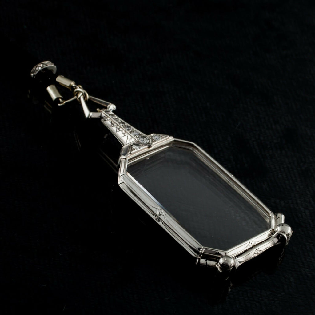 Cartier Vintage Art Deco 1920s Lorgnettes/Opera Glasses in Platinum w/ Diamonds