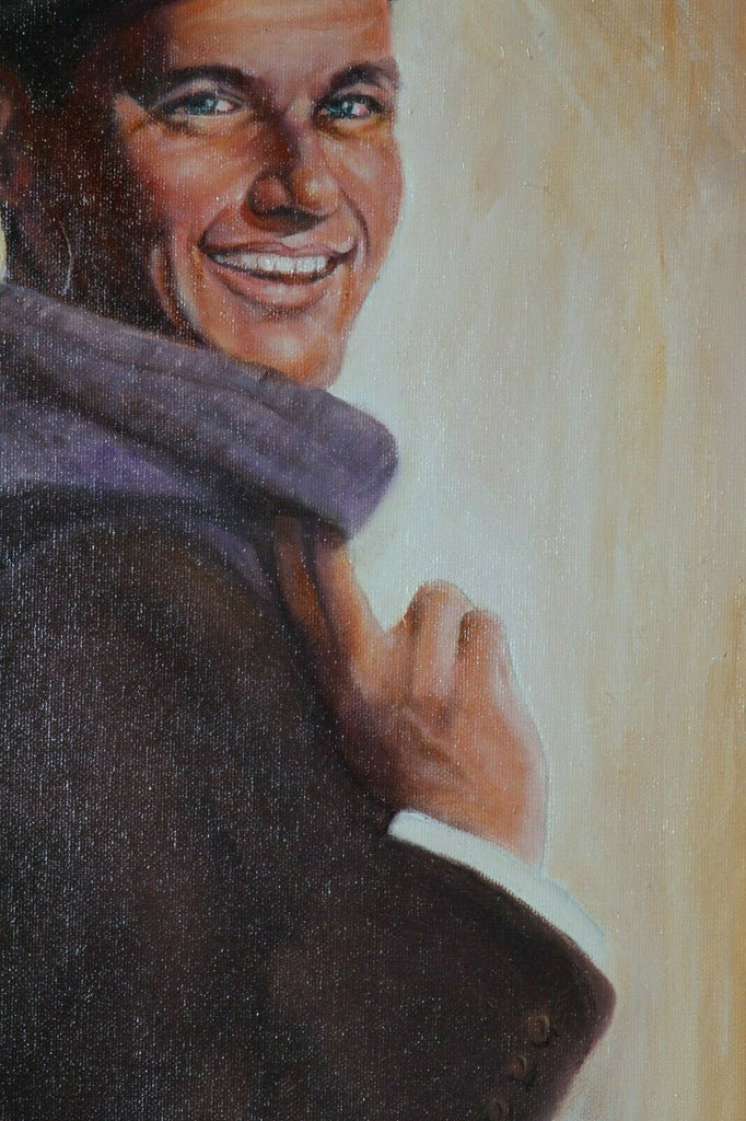 Untitled (Portrait of Frank Sinatra) By Anthony Sidoni 2003 Signed Oil on Canvas