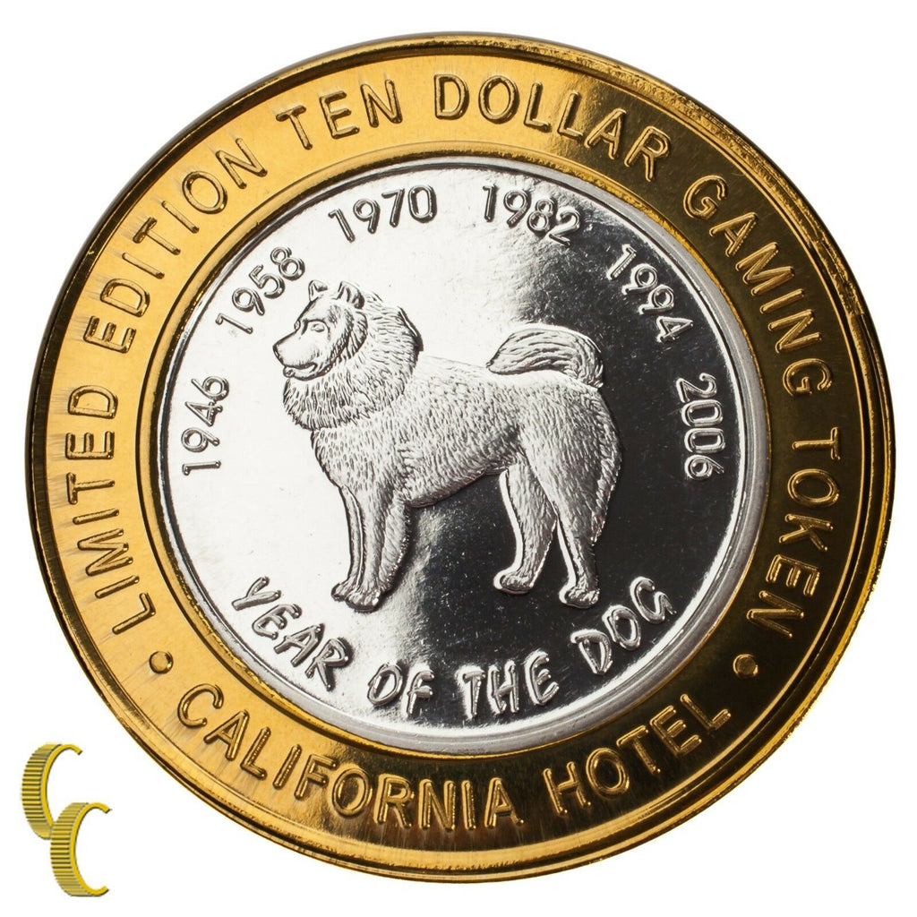 Sam Boyd's Las Vegas $10 Gaming Token Year of the Dog 999 Fine Silver